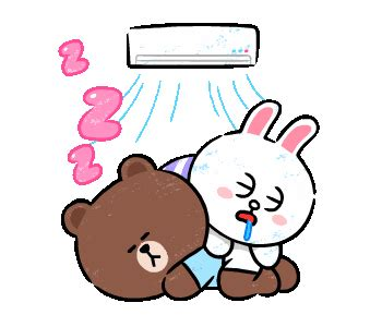 Kaos Line Emoticon Cony 1 Oceanseven line 官方貼圖 brown cony in exle with gif animation