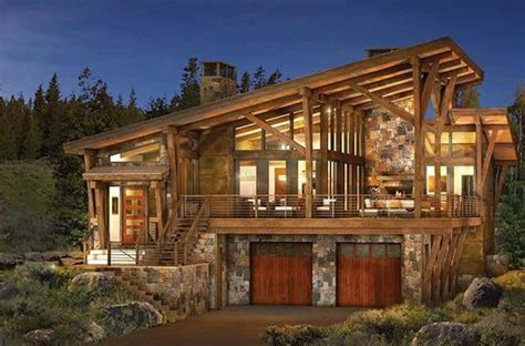 modern small cabins contemporary log home plans homes pinterest log home