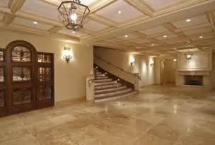 porcelain tile that looks like travertine living room