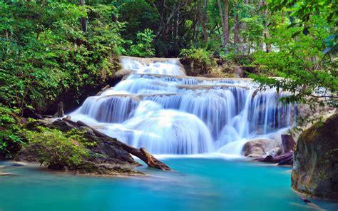 waterfall national park kanchanaburi  wallpaperscom