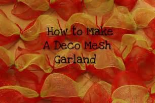 deco mesh ideas miss kopy how to make a deco mesh garland