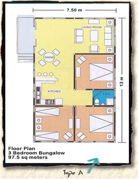 floor plans for sambolo beach bungalows in banten