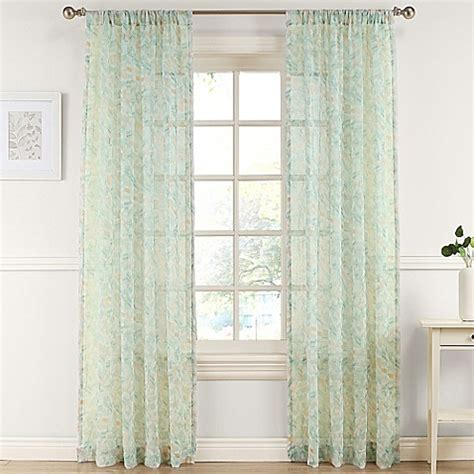 63 sheer curtains buy pandora 63 inch sheer window curtain panel in apricot