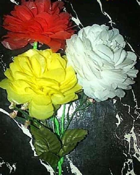 cara membuat bunga dari kertas atau plastik cara membuat tanaman hias dari plastik atau barang bekas