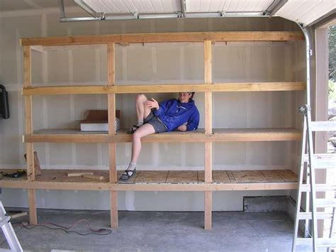 Garage Storage Plans by Diy Garage Shelves For Your Inspiration Diy Garage
