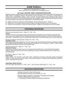 Sample Resume For Teachers Sample Student Resumes 187 Sample Early Childhood Resume