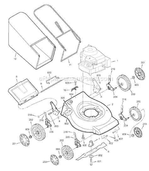 murray mower parts diagram murray 880420x51n parts list and diagram