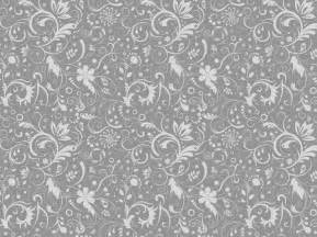 Gray Floral Pattern