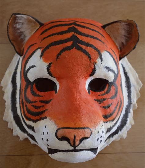 How To Make A Tiger Mask Out Of Paper - how to draw mask tiger