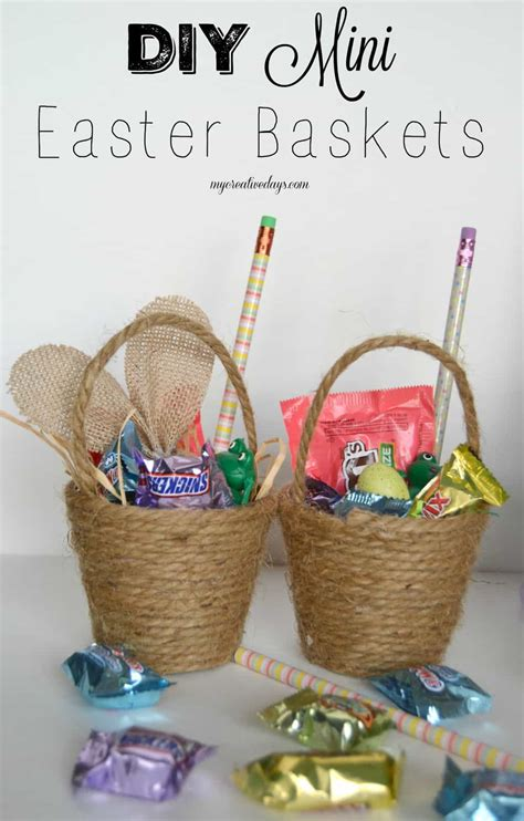 diy easter basket diy mini easter baskets my creative days