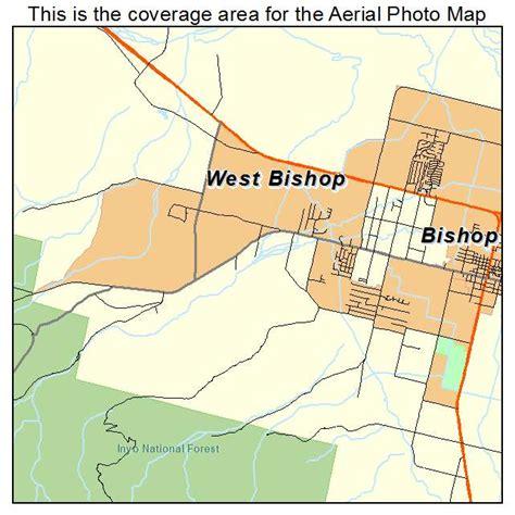 california map bishop aerial photography map of west bishop ca california
