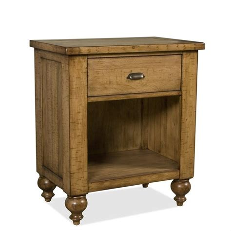Rustic Pine Nightstand Riverside Furniture Summerhill 1 Drawer Nightstand In Canby Rustic Pine 91669