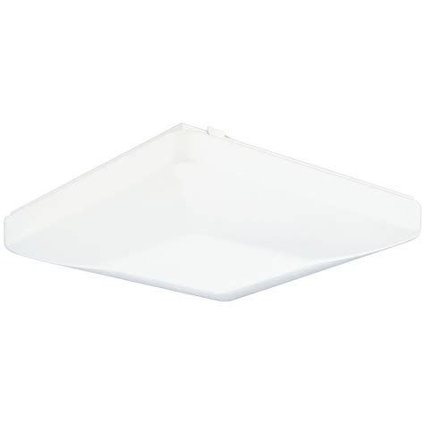 Lithonia Light Fixtures Lithonia Lighting Low Profile 2 Light White Residential Fixture Fm54 Acls Lp M4 The Home Depot