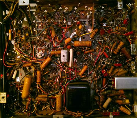 Circuitry inside a 50 year old television I'm taking apart