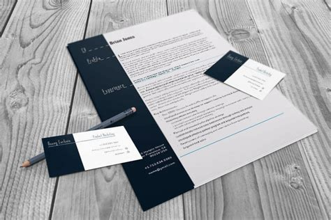 Indesign Cs4 Business Card Template by Resume And Business Card Set Indesign Cs4 Template