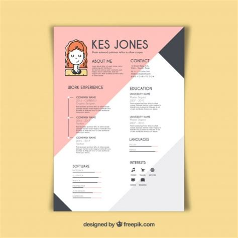 creative resume template for web designer free psd download