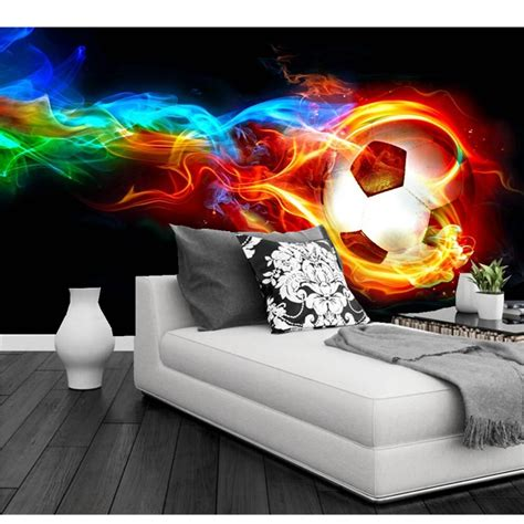 soccer murals for bedrooms 3d fire wallpaper reviews online shopping 3d fire