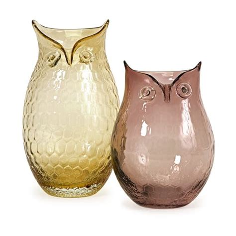 Owl Vase by Ambra Glass Owl Vases Owls