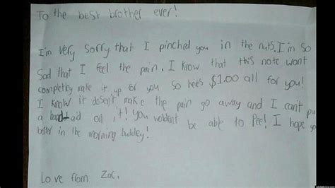 Apology Letter Asking For A Second Chance Hilarious Kid Note Of The Day Zac Apologizes To His