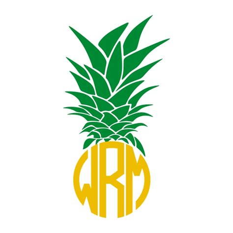 Pineapple Top pineapple top monogram cuttable frame