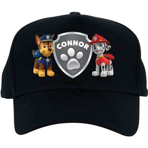 Piyama Paw Patrol Pajamas Jw 11 With Personalized Name Patch personalized paw patrol badge of honor black baseball hat walmart