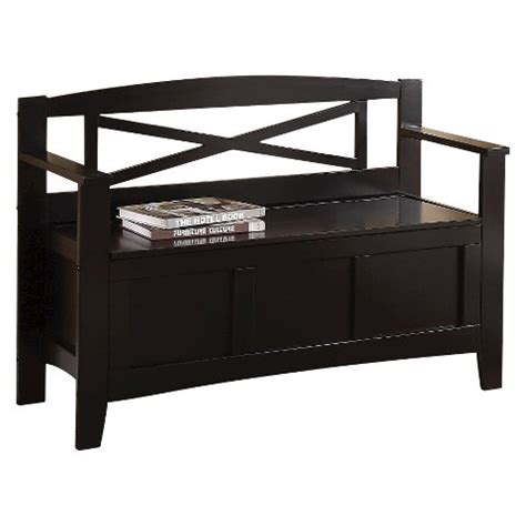 Entryway Bench With Back entryway bench with x back black office target