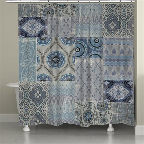 Blue Patchwork Curtains - patchwork shower curtain totally wrong colors