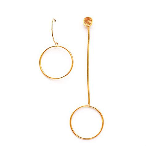 Asymmetric Earring gold asymmetric earrings