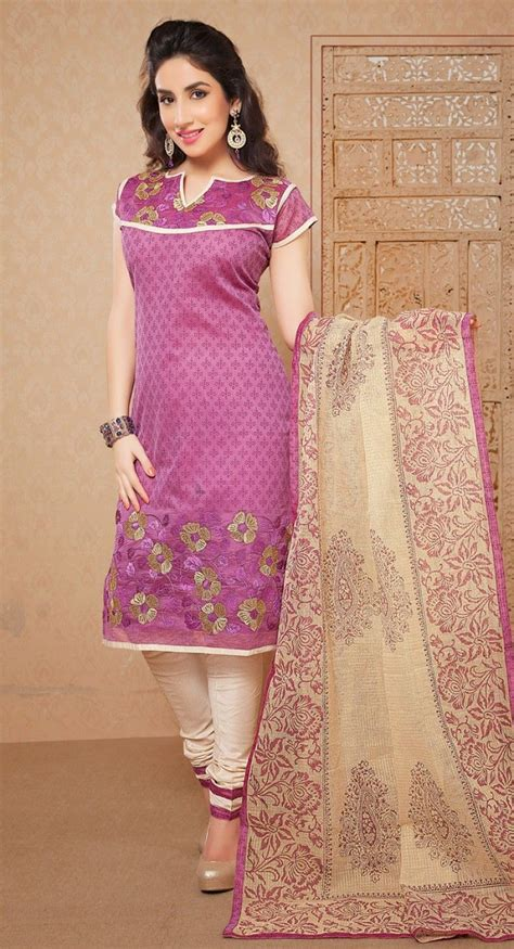 bluish purple color dainty bluish purple color chanderi cotton silk casual