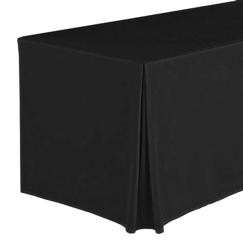 table drape snap drape fpfswyn83030 blk wyndham fitted table cover set