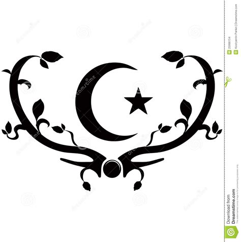 tattoo in dream islam symbol of islam stock images image 25996154