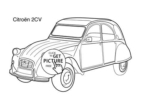 coloring pages of super cars super car citroen 2cv coloring page for kids printable
