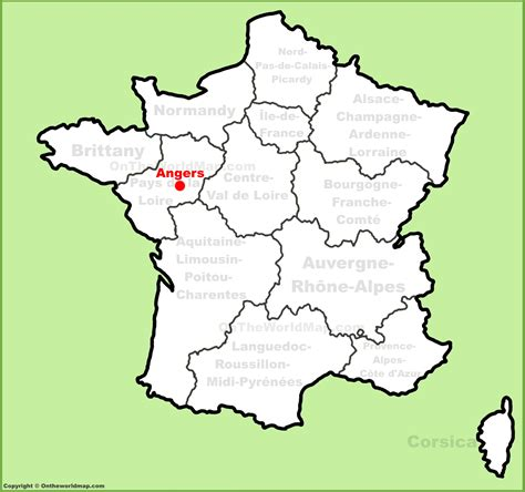 angers map angers location on the map