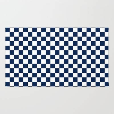 blue check rug checkered blue and white rug by zen and chic