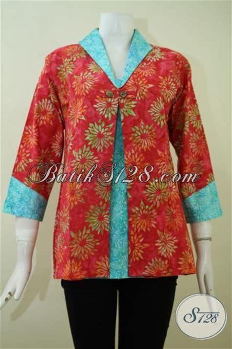 Dress Cewek Cs blus batik seragam kerja cewek kantoran dengan model