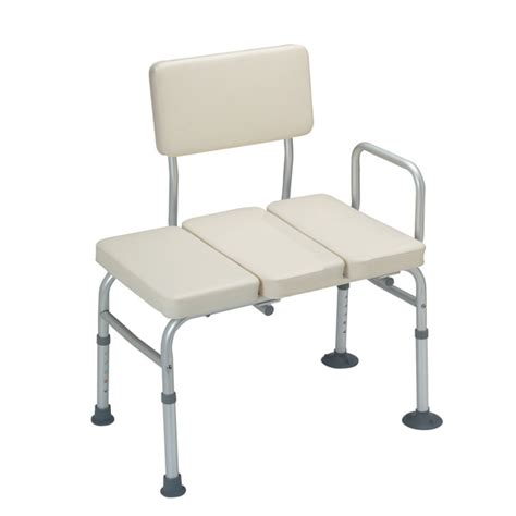 padded shower transfer bench padded vinyl bath tub transfer bench hme mobility