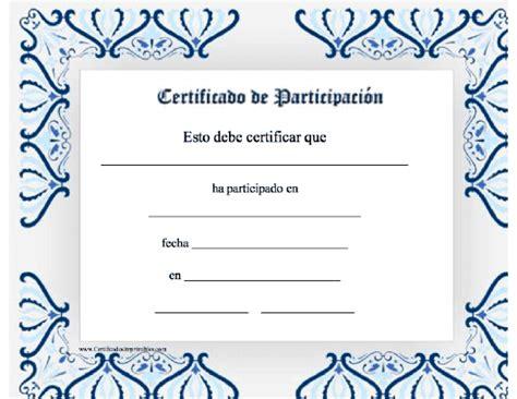 certificados de reconocimiento en blanco newhairstylesformen2014com certificado de participaci 243 n para imprimir los