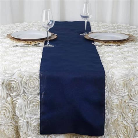 Navy Blue Table Runners Wedding by Navy Blue Polyester Table Runner Efavormart