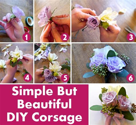 Learn How To Diy A Corsage by Simple But Beautiful Diy Corsage Diy Home Things