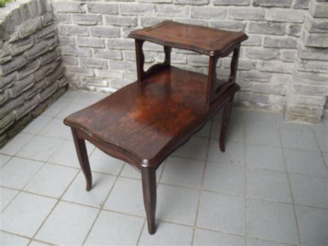 2 tier end table vintage solid wood 2 tier end table secondhand pursuit