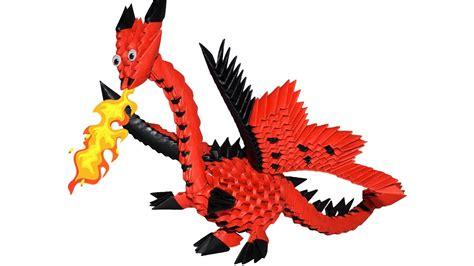 tutorial origami 3d dragon origami 3d dragon trailer youtube
