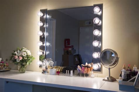 Lighted Vanity Wall Mirror Glam Diy Lighted Vanity Mirrors Decorating Your Small Space