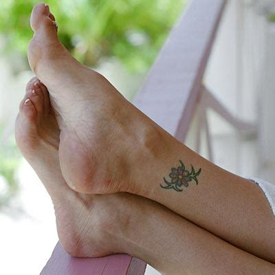 small girly foot tattoos and adorable small feminine designs