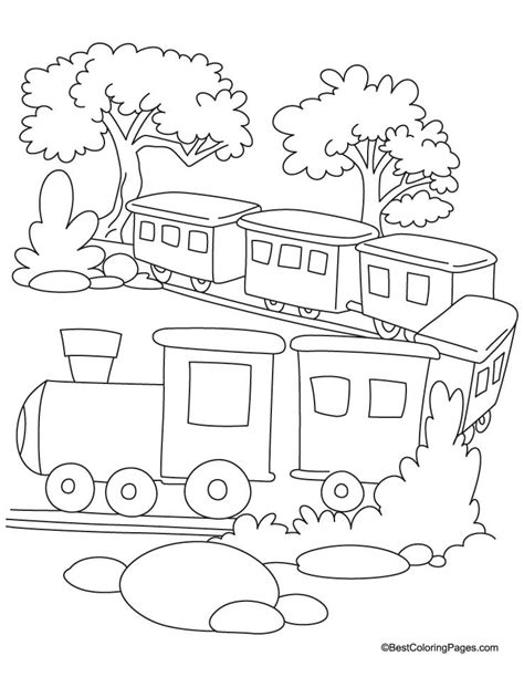 free coloring pages of rail transport