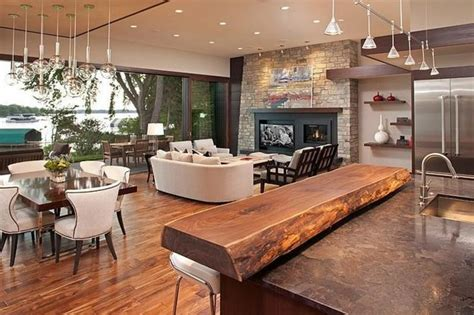 White Kitchen Island Breakfast Bar by 12 Spectacular Eco Friendly Modern House Designs On Lakes