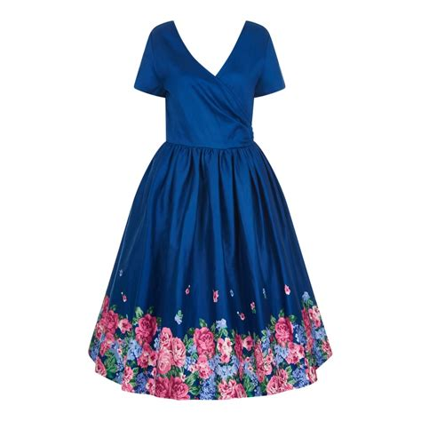 swing dress floral collectif vintage marianna floral border print swing dress