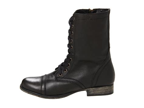 steve madden troopa black lace up boots 8 new ebay