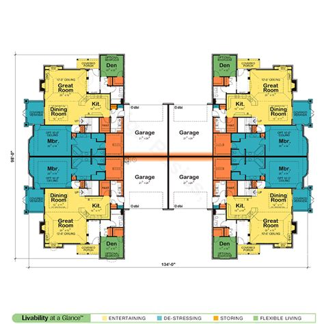quadplex plans waynesville quadplex 7631 french country home plan at