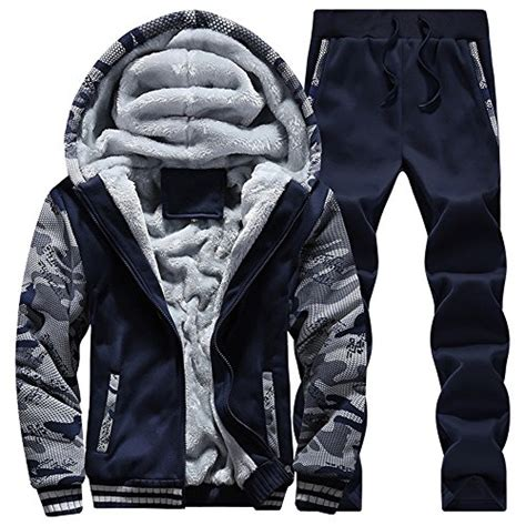 Heated Swest Suit Detox by Mens Warm Fit Sweat Suits Casual Tracksuits