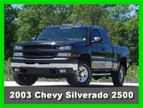 small engine repair training 2003 chevrolet silverado 2500 electronic throttle control buy used 2003 chevrolet silverado 2500hd lt extended cab short bed 4x4 6 0l vortec gas in south
